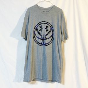 Under Armour T- Shirt Gray/Blue Size Small EUC